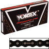 Vortex 530 RV3 Black Street / Roadrace Sealed Chain - Vortex 525 Steel Sprocket & Chain Kit